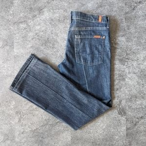 7 FAM creased bootcut wide leg flare jeans